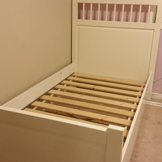 ikea hemnes twin bed frame in white 2 of them - Twin Bed Frame For Sale