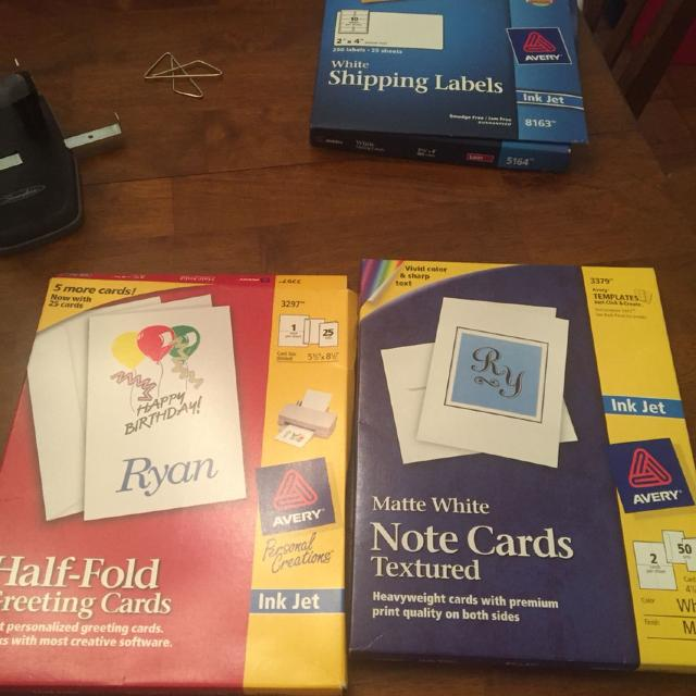 best avery 3379 note cards with envelopes and avery 3397 half fold