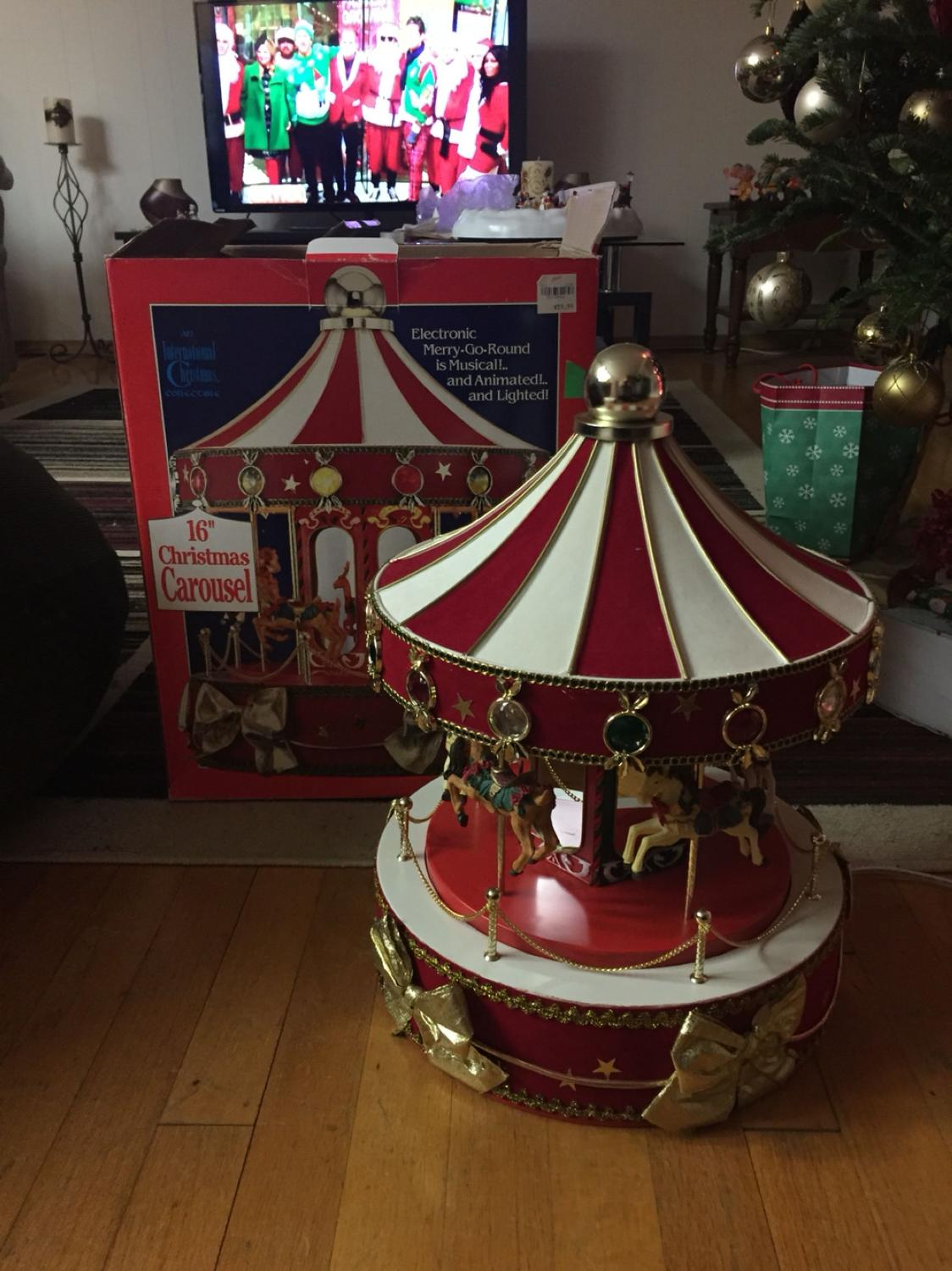 find more 16 christmas carousel vintage christmas decorations for sale at up to 90 off