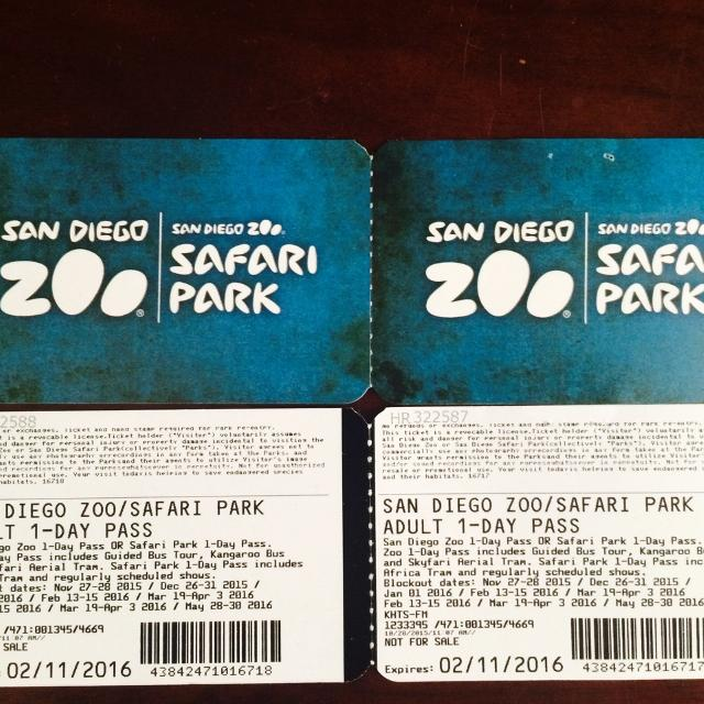 Find More 4 Adult Tickets To San Diego Zoo Or Safari Park For Sale