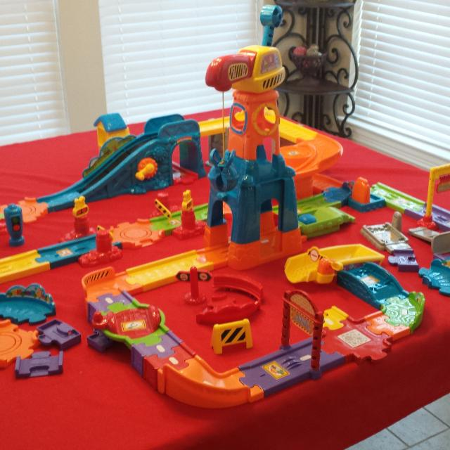 Find More Price For All 3 Sets Lot Of Vtech Train Set Construction