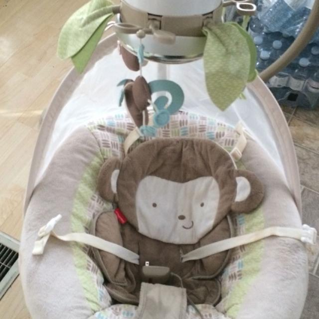 Fisher Price Snugga Monkey Baby Cradle And Swing In Great Condition Asking 100