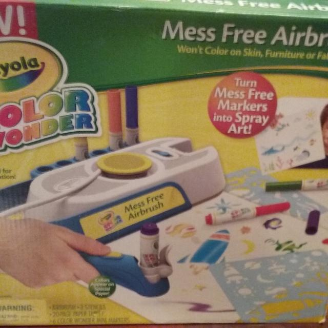 find more new in box crayola color wonder mess free airbrush