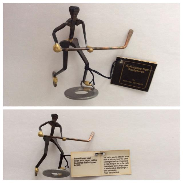 Find More Horseshoe Nail Sculpture Hockey Player 1 For Sale At