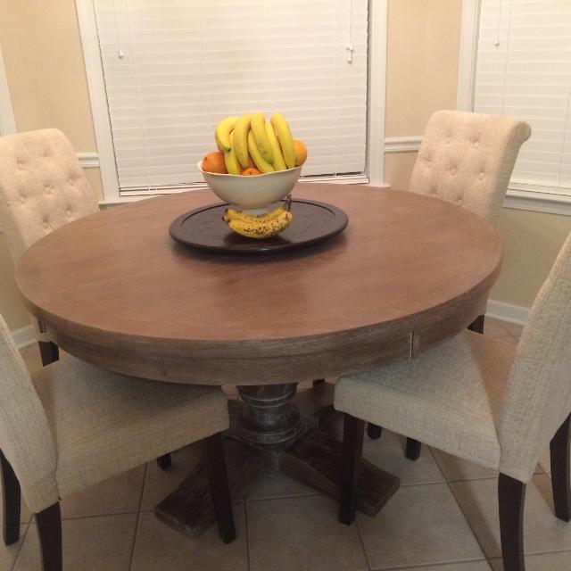 52 Round Table.52 Round Dining Table Brand Spanking New Just Purchased But Color Is Lighter Than I Wanted Just Want What I Paid For It