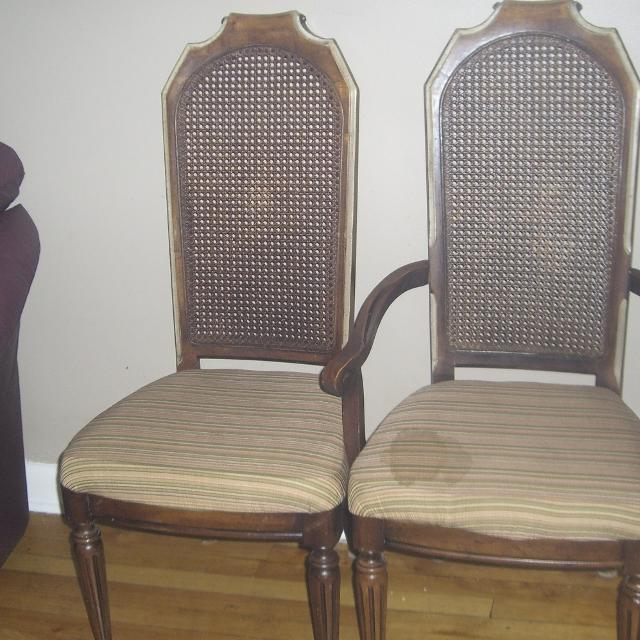 4 high back antique wicker chairs ONE arm chair - Best 4 High Back Antique Wicker Chairs One Arm Chair For Sale In