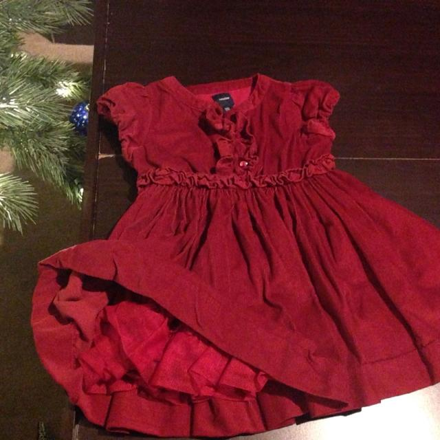 beautiful deep red baby gap christmas dress 18 24 months
