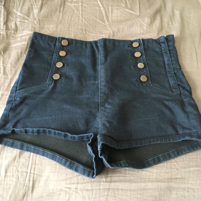 99166d6392 Best High Waist Dark Blue Denim Jegging Shorts With Side Zipper! for sale  in Ellensburg, Washington for 2019