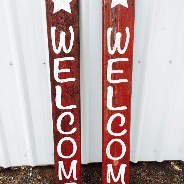 Barn Wood Welcome Signs Perfect Gift Or Keep For Yourself Approx 54 Inches Tall