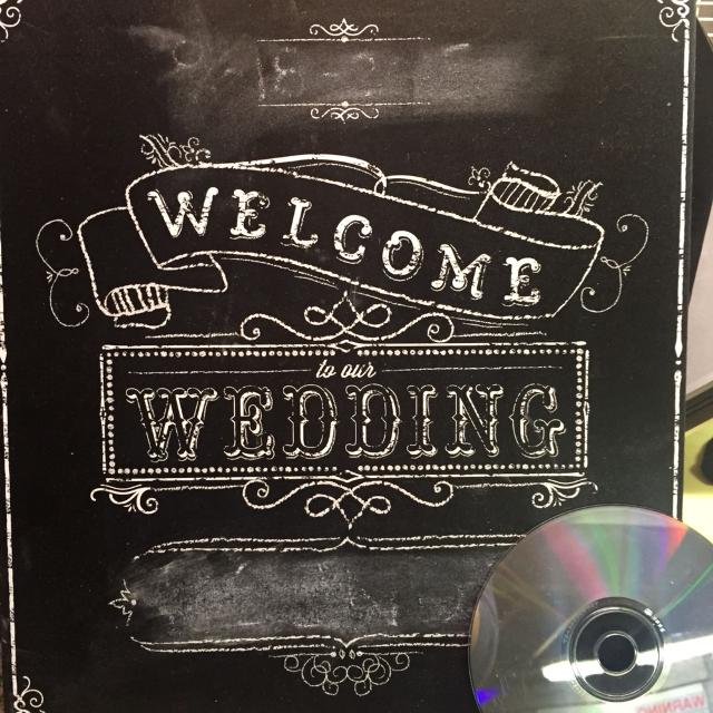 Welcome To Our Wedding Chalkboard Sign