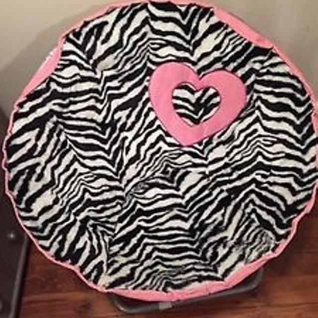 Saucer Papasan Chair Zebra And Pink Justice For Girls Brand