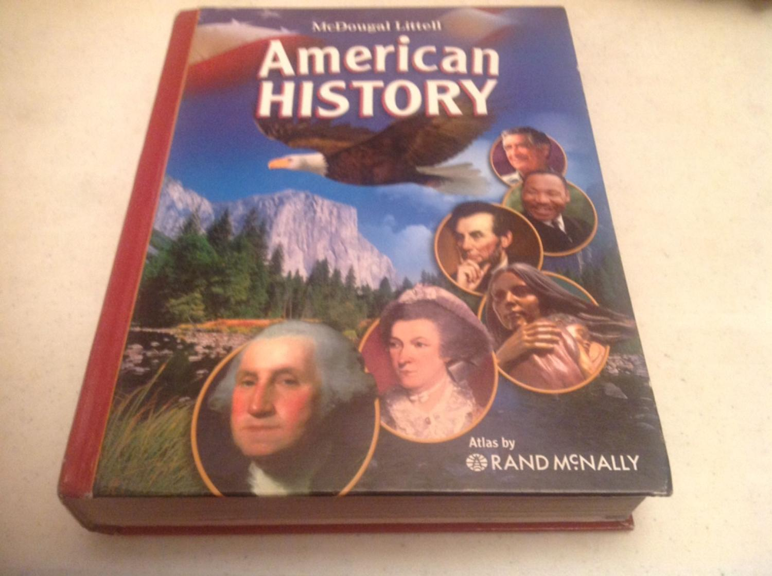 Middle school American history book from McDougal Littell  Covers time  period from 1650 to the present  Hard cover in very good condition