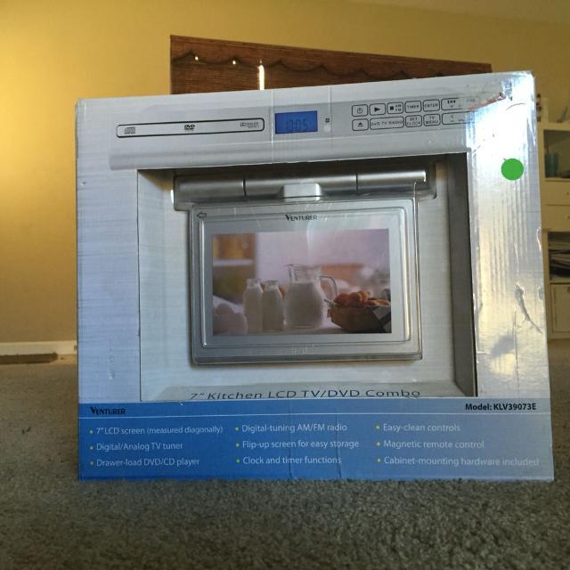 Kitchen under cabinet tv/DVD