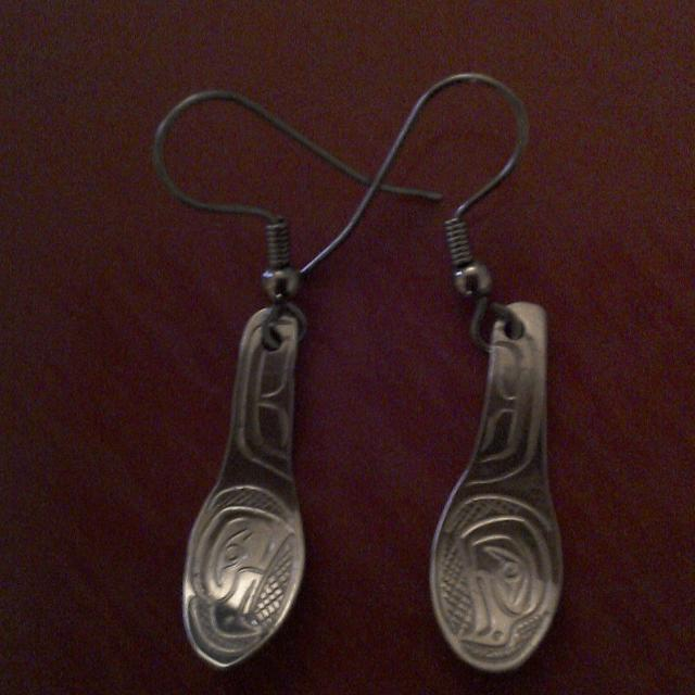 768fd8178 Find more Native Silver (spoon) Earrings for sale at up to 90% off ...