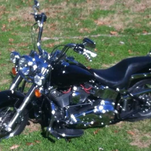 2005 Soft Tail Harley with fat boy front end