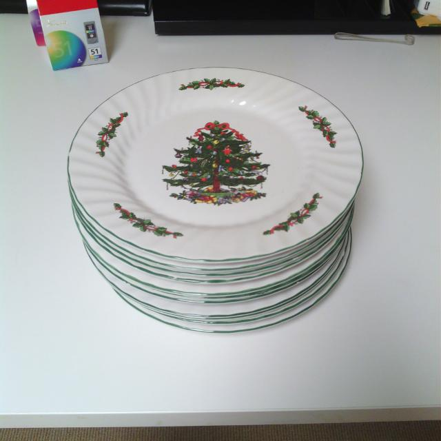 11 christmas plates by christmas village made in china dishwasher safe selling - Christmas Plates