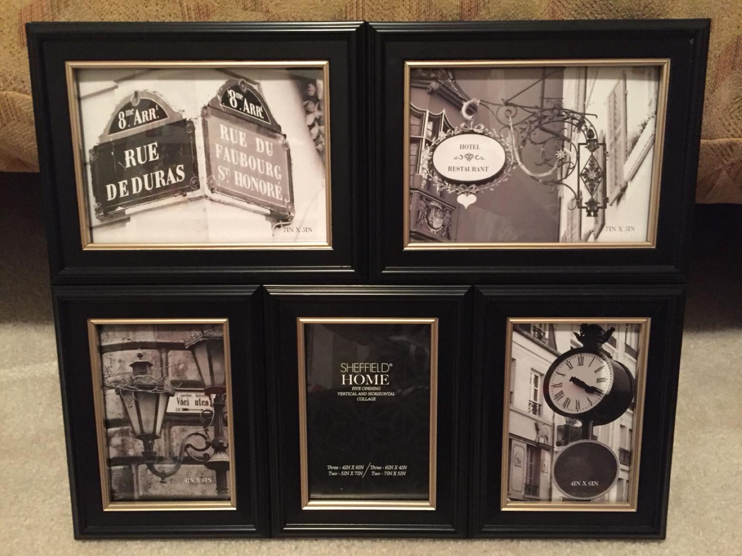 Find more 5 Opening Picture Frame. Black With Silver Trim Around ...