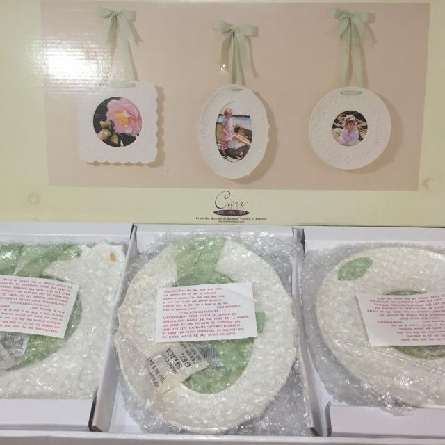 Find More Glass Frames With Ribbon Hangers Never Used Price