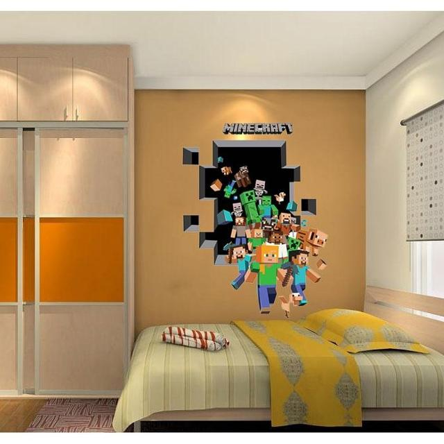 Find more Minecraft Wall Cling Decal Sticker Vinyl Decor 3d Art for ...