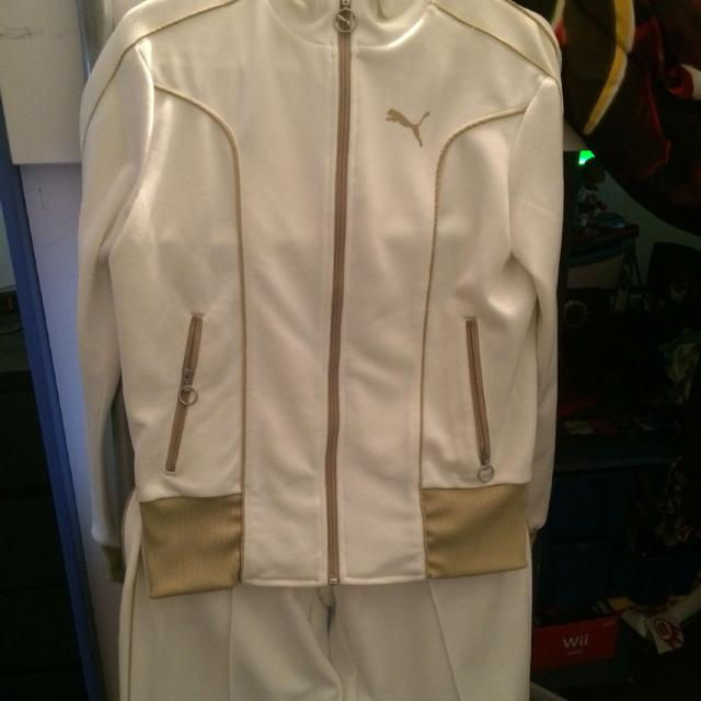 91a43d7bb76a Find more Nwot Women s Puma Tracksuit - Cream Colored Size Large ...