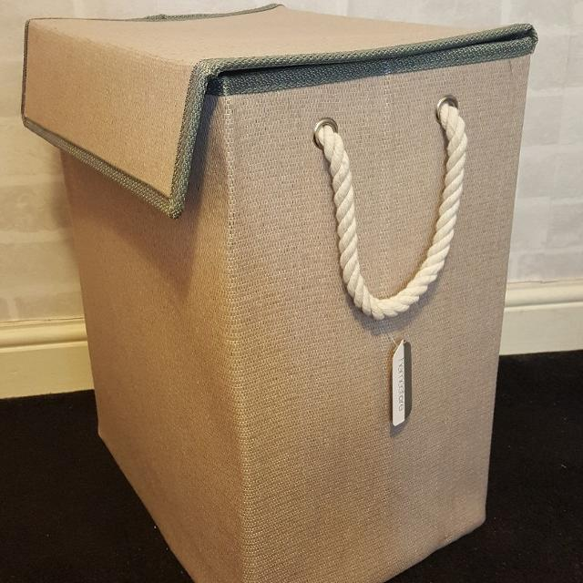 Standing Canvas Laundry Bag With Rope Handles