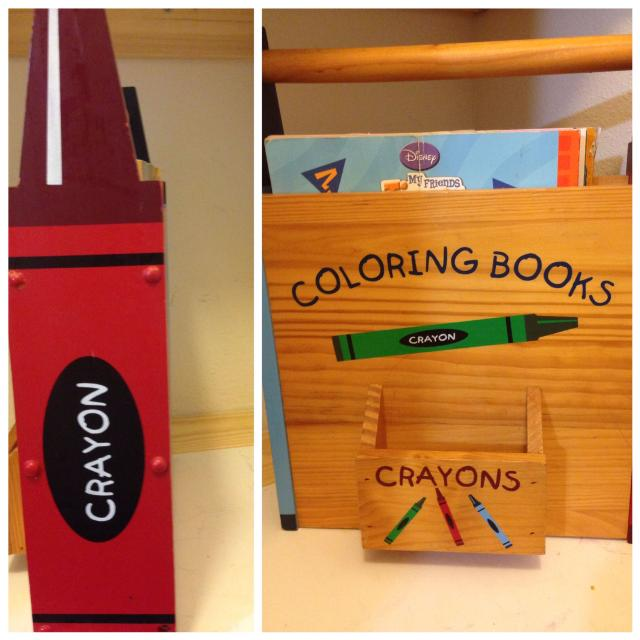 Wooden Coloring book holder
