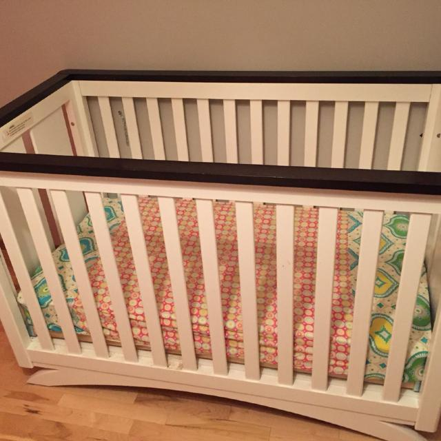 Find More Shermag Capri Convertible Crib Two Tone Beautiful