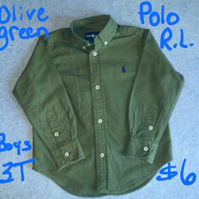 Best polo ralph lauren olive green oxford shirt boys for Olive green oxford shirt