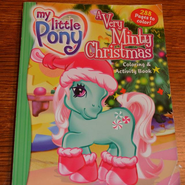 my little pony a very minty christmas jumbo coloring book