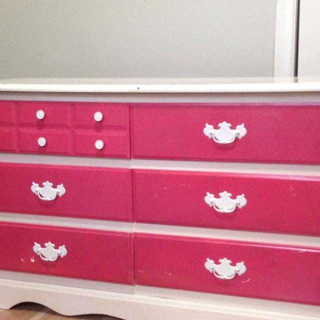 pink chalk dresser and gold pale makeover paint dressers