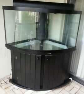 Find more 100 gallon bow front corner aquarium for sale at for 55 gallon corner fish tank