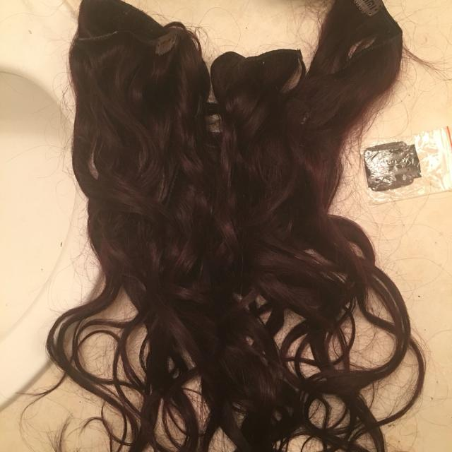 Find More 20 In Remy Human Hair Extensions Mahogany Deep Violet