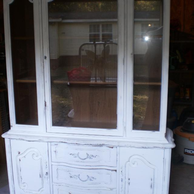 Shabby Chic China Cabinet Hutch