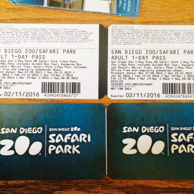 Find More 4 Adult Tickets To San Diego Zoo Safari Park For Sale At