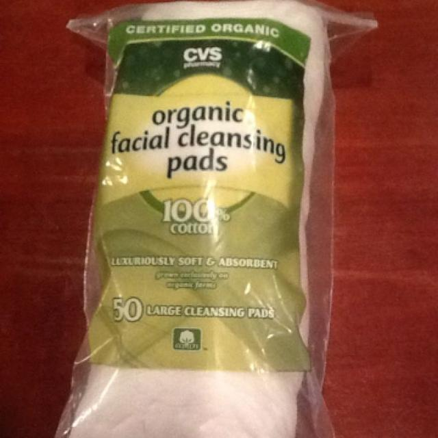 CVS organic facial cleansing pads  50 count large pads  100% cotton  Brand  new in sealed package  Asking $2 00 each (3 available)