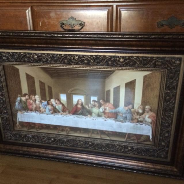 Best Beautiful Framed Print Of The Last Supper For Sale In Fort