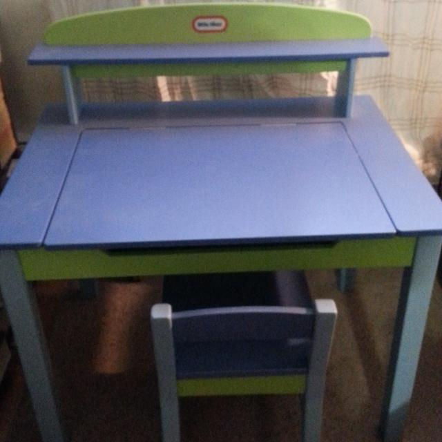 Find More Little Tikes Wood Desk And Chair Set Rare For Sale At