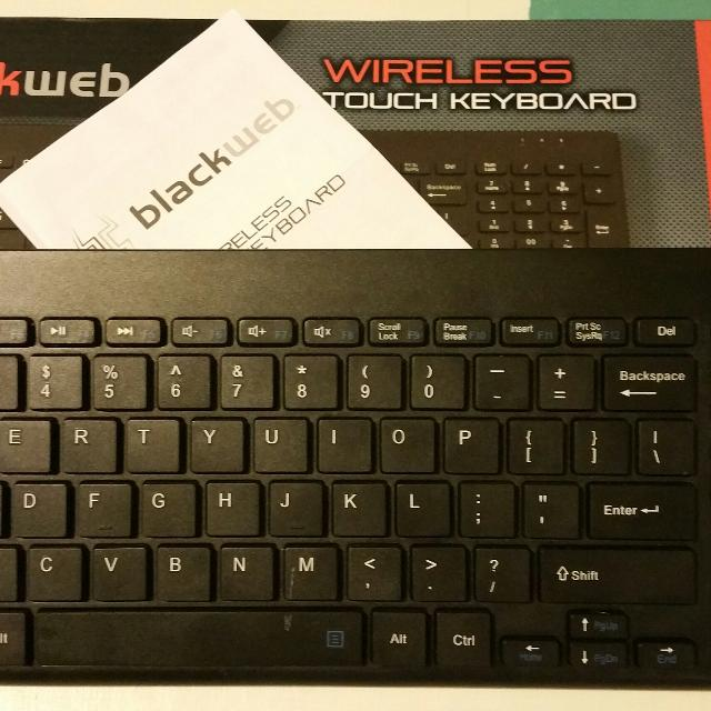 find more nwot blackweb wireless keyboard w soft touch mouse pad for