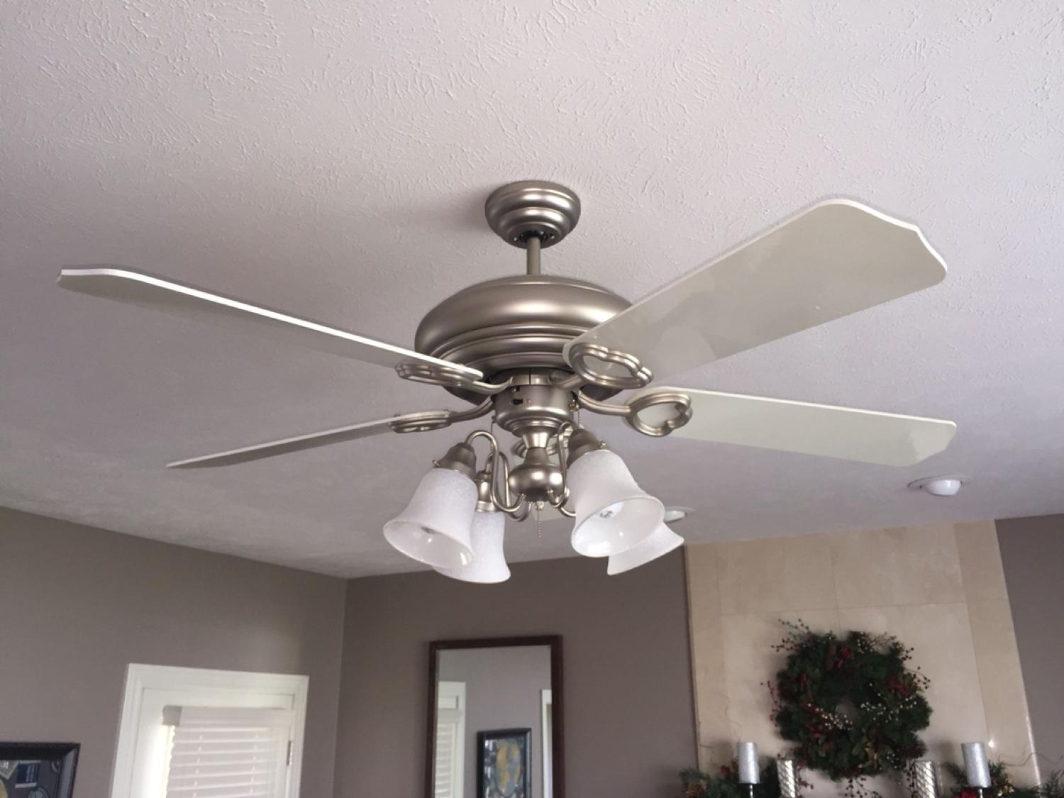 Find more gorgeous regency ceiling fan less than 6 months old nickel find more gorgeous regency ceiling fan less than 6 months old nickel and white for sale at up to 90 off aloadofball Images