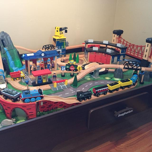 Find more Imaginarium- Mountain Rock Train Table. for sale at up to ...