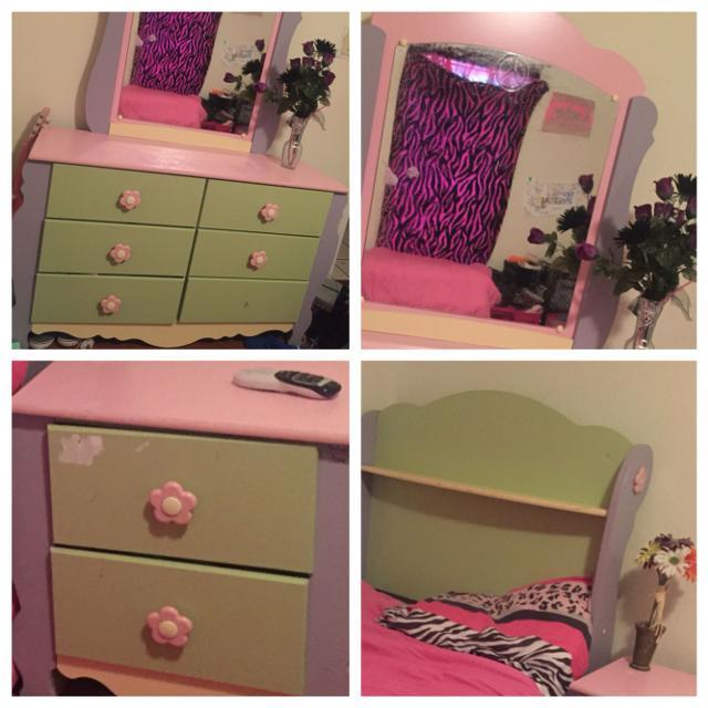 Ashley Furniture Little Girls Doll House Bedroom Set Adorable Twin Size Bedroom Set