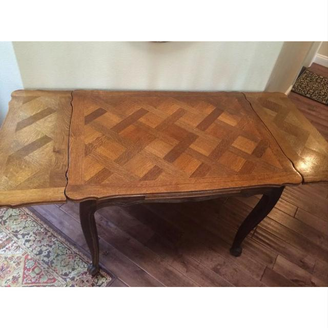 French Provincial Parquet Dining Table