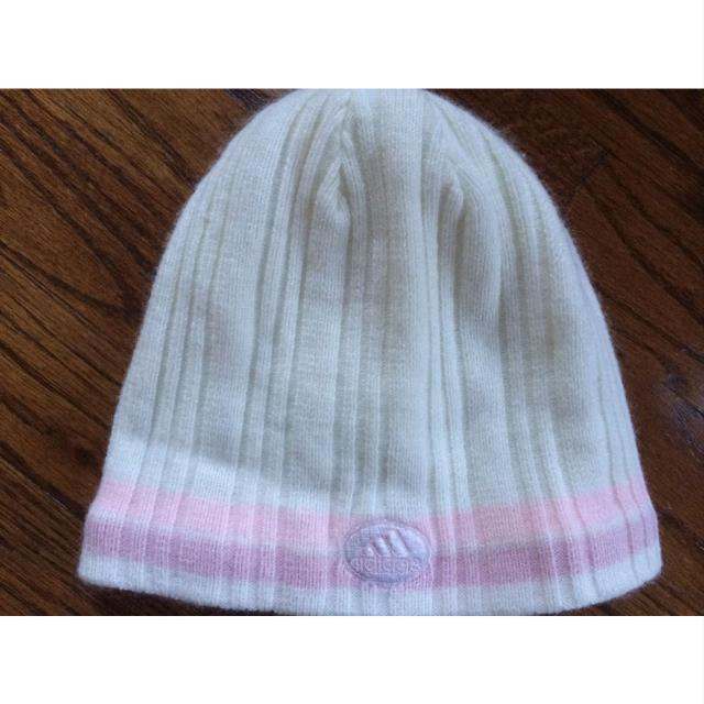 Best Outdoor Hat Snow Hat Adidas Beanie Cream With Pink Stripes Winter Knit Ski  Hat cap  girls Climawarm for sale in Lake Elsinore 62bacc553f7