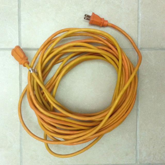 Outdoor Extension Cord 2 Prong Ground Removed So That It