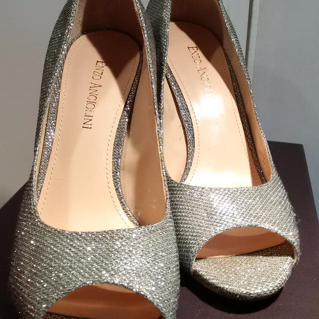 Find more Price Drop - Enzo Angiolini Silver Sparkle Shoes With Peep ... 90aeaeb7e5af