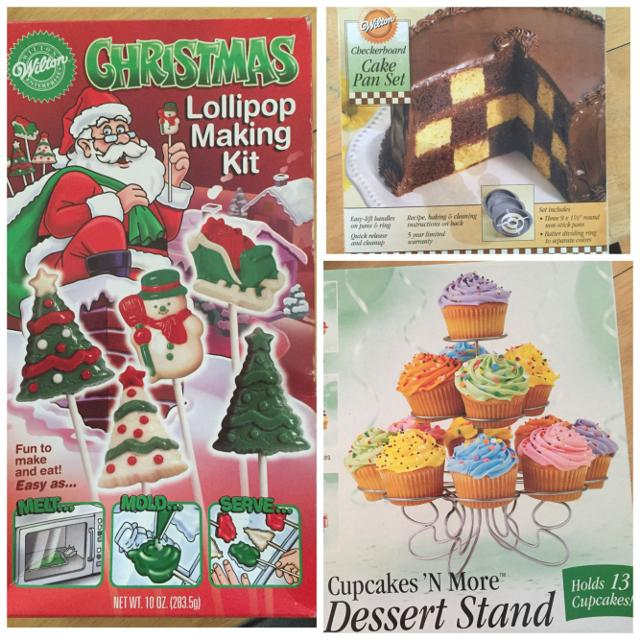 christmas candy molds checkerboard cake pan cupcake stand - Christmas Candy Molds