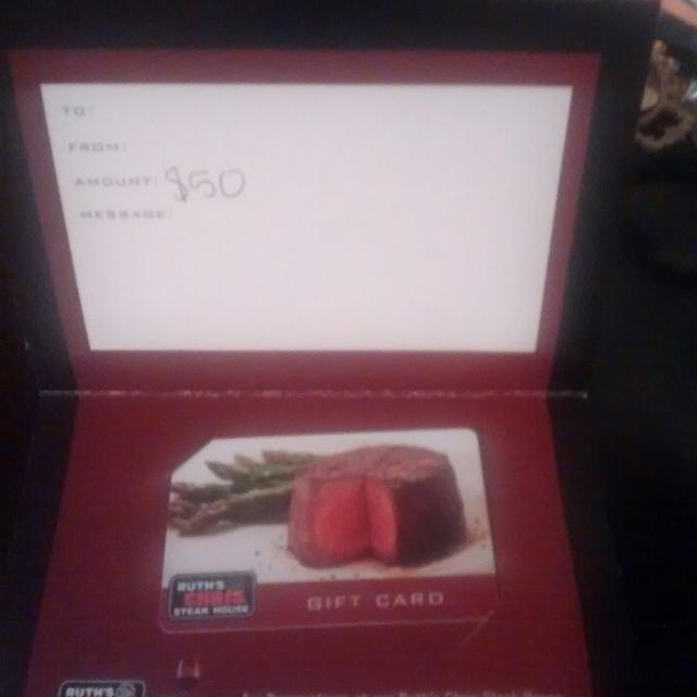 Find more Ruth\'s Chris Gift Card $50 for sale at up to 90% off