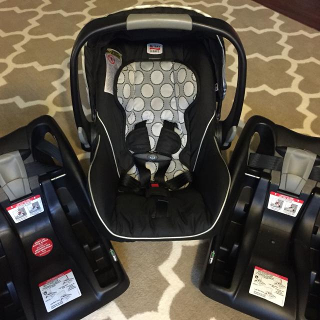 Britax B Safe Infant Carseat With 2 Bases