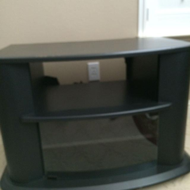 Find More Black Tv Stand Used Lots Of Storage Area In Front 2