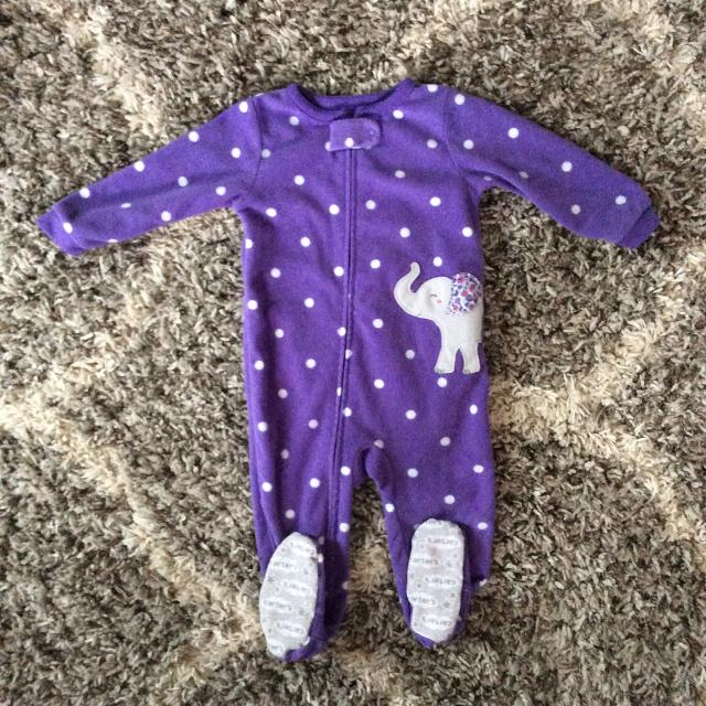 a8fc8924f Find more Carter s Purple Elephant Polka Dot Fleece Sleeper ...